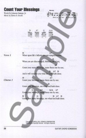Guitar Chord Songbook - Gospel Hymns (texty & akordy) 265Kč