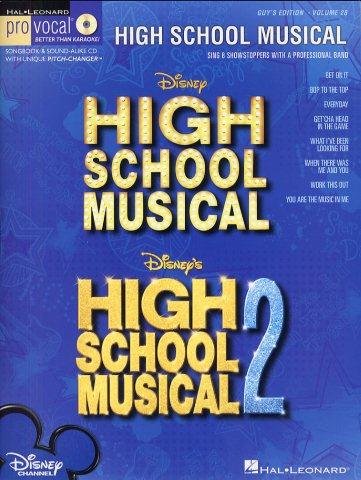 Pro Vocal 28: High School Musical (Male Edition) (noty, melodická linka, akordy, texty) (+CD)