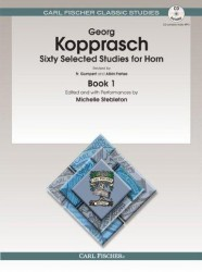 Georg Kopprasch: Sixty Selected Studies For Horn - Book 1 (noty, lesní roh) (+online audio)