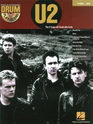 Drum Play-Along Volume 34: U2 (noty na bicí) (+doprovodné CD)