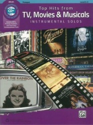 Alfred's Instrumental Play-Along: Top Hits From TV, Movies & Musicals - Trumpet (noty na trubku) (+doprovodné CD)