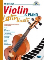 Latin Duets for Violin & Piano (noty na housle, klavír) (+CD)