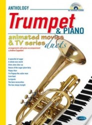 Animated Movies and TV Duets for Trumpet And Piano (noty na trubku, klavír) (+doprovodné CD)