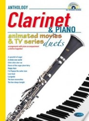 Animated Movies and TV Duets for Clarinet And Piano (noty na klarinet, klavír) (+doprovodné CD)