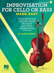 Laurie Gabriel: Improvisation For Cello Or Bass  Made Easy (noty na violoncello, kontrabas) (+online audio)