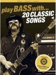 Play Bass With 20 Classic Songs (noty, taby na baskytaru) (+online audio)