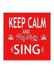 Little Snoring Gifts: Magnet na ledničku - Keep Calm & Sing