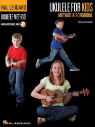 Chad Johnson: Ukulele For Kids Method & Songbook (noty, akordy na ukulele) (+online audio)