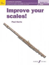 Paul Harris: Improve your scales! Flute Grades 4-5 (noty na příčnou flétnu)