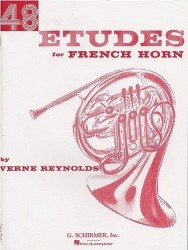 Verne Reynolds: 48 Etudes For French Horn (noty na lesní roh)