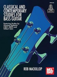 Classical And Contemporary Studies For Bass Guitar (noty, tabulatury na baskytaru)(+online audio)