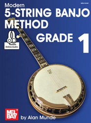 Modern 5-String Banjo Method Grade 1 (noty, tabulatury na banjo) (+audio)