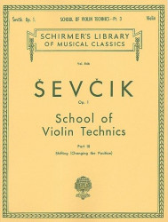 Otakar Ševčík: School of Violin Technics, Op. 1, Book 3 (noty na housle)