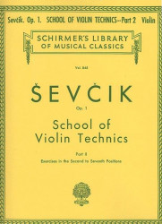 Otakar Ševčík: School of Violin Technics, Op. 1, Book 2 (noty na housle)