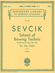 Otakar Ševčík: School of Bowing Technics, Op. 2, Book 2 (noty na housle)