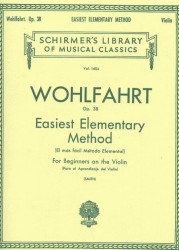 Franz Wohlfahrt: Easiest Elementary Method for Beginners Op. 38 (noty na housle)
