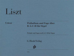 Franz Liszt: Prelude and Fugue on B-A-C-H for Organ (noty na varhany)