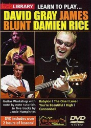 Lick Library: Learn To Play David Gray, James Blunt, Damien Rice (DVD) (video škola hry na kytaru)