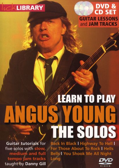 Lick Library: Learn To Play Angus Young (AC/DC) - The Solos (DVD) (video škola hry na kytaru)
