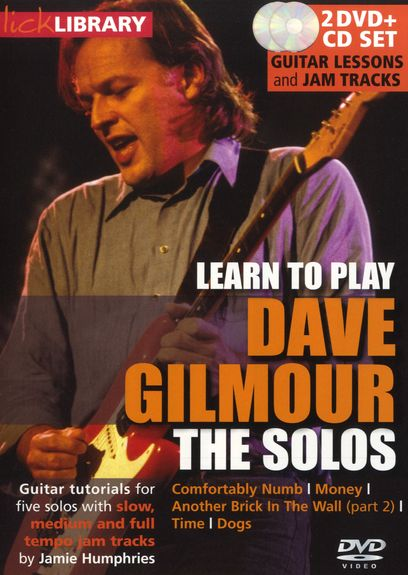 Lick Library: Learn To Play Dave Gilmour - The Solos (DVD) (video škola hry na kytaru)